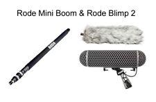 "Rode MiniBoom Boom Pole Mini 81"" Boompole + Blimp Blimp2 Windshield Capture Pack"