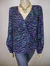 NICOLA FINETTI Long Sleeve Top sz 10 Gorgeous - BUY 5 Items = Free Post