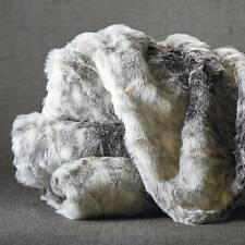 Snow Leopard Cat Faux Fur Throw Blanket Sophisticated Elegance Super Soft