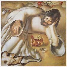 Christ in Wilderness, the Hen, Stanley Spencer in 10 x 12 inch mount SUPERB