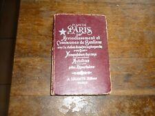 GUIDE 1970 PLAN DE PARIS PAR ARRONDISSEMENT COMMUNES DE BANLIEUE METRO