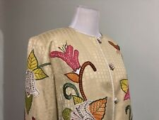 Women's Size Small Floral Career/Casual Jacket; Button-Down Front; Indigo Moon