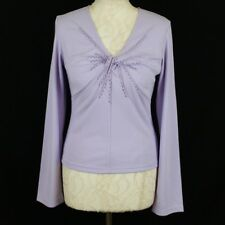 KALEIDOSCOPE Long Sleeve Sequin Embellished Top 12 Lilac Elegant Party Occasion
