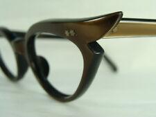 Vintage 60s Women's Swank Cat Eye Classic Mink Frame Optometry EyeGlasses 46-22