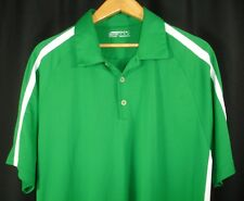 Nike Golf Fit Dry Short Sleeve Polo Golf Shirt Green White Stripe Xl