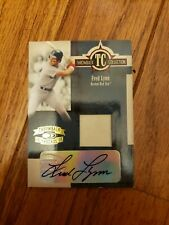 Boston Red Sox Fred Lynn autographed game worn item