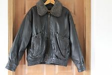 *Vintage Urban Equipment Bomber/Motorcycle Brn/Blk Leather Jacket ( Large )