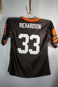 NFL Team Richardson #33 Cleveland Browns  Football Jersey Size Youth Large 14/16