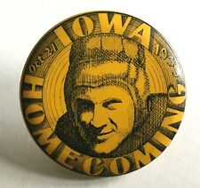 1933 IOWA HAWKEYES HOMECOMING Rare Old Vintage College Football Badge Pin Button