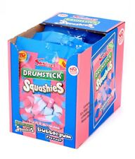 Full Box of 12 Share Bags Drumstick Squashies Bubblegum Flavour £11.99 Free P&P