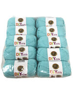 New LION brand Acrylic Aqua Yarn #4 Medium Lot Of 10 Skeins 650 Yards MSRP $45