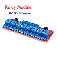 DC 12V 8 Channel 8CH High/ Low level Relay Module with Optocoupler Isolation