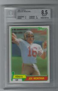 1981 Topps Joe Montana RC 216 BGS 8.5 Grades 9,9,8,8.5 Invest now WOW! 49ers