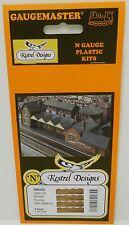 Kestrel KD52 - Wooden Fencing X4 With Lattice      Laser Cut Card      N Railway
