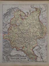 Landkarte vom Europäischen Russland, Moskau, Ravenstein, Hildburghausen 1872