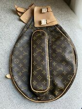 Louis Vuitton LV Monogram Brown Tennis Racket Ball Cover Case Bag New