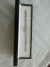 Vintage Womens 18ct White Gold Bucherer Wristwatch Watch and Band Boxed