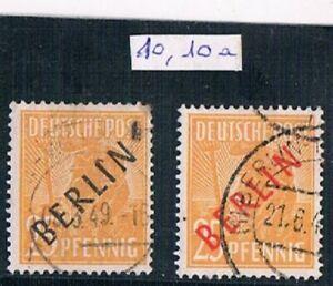 ALLEMAGNE    Berlin     N°  10  et  10a    oblitérés    C    =    135 e , 00