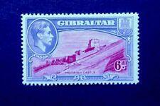 Gibraltar sg 126a perf 14 1942 GVI lightly hinged.