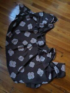 Kiton cash/silk geo floral shawl scarf! 36x76. Cozy Rare Luxe!