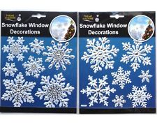 2 Pack Of SNOWFLAKE/CHRISTMAS STICKERS - CRAFTS/CARDMAKING