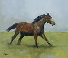 Original Oil painting - wildlife art - horse portrait - by j payne