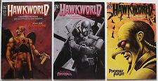 Hawkworld #1 thru #3 (1989 DC) prestige format mini series, complete set, all NM