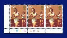 1980 SG1134 12p Running Cylinder Strip (3) 1Ax6 No Dot MNH  artr