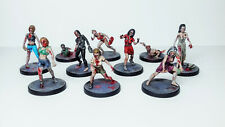 Zombie female pack Warlord Games jeu Project Z Pack 10 figurines plastique 28 mm