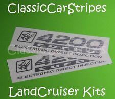 LandCruiser 4200 turbo 100 Series SILVER Decal sticker