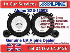 "Alpine SXE-1350S 5.1/4""(13cm DIN) Custom Fit Coaxial 2Way Car Speakers 250W PAIR"