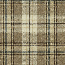 Maharam 100% Wool Upholstery Fabric- Pressed Plaid/Natural (001) 1.25 yd #466181