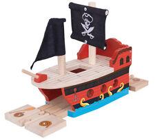 Barco Pirata Para Pista De Tren De Madera (Brio Thomas) ~ Nuevo