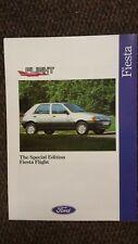 Ford Fiesta Flight Special Edition Showroom Sales Brochure. Brand new