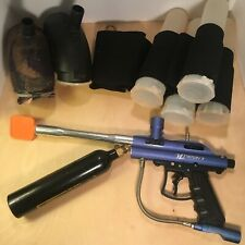 Vl Triton Ii paintball marker gun blue /canister/accessories As Shown