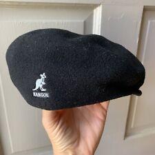 Kangol Wool Hat Cap 504 Men's Large Black Flat Cap Newsboy Cabbie Guys