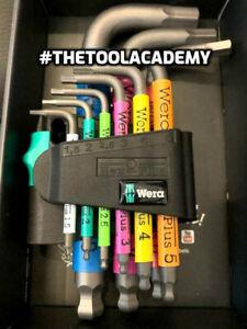 Wera Tools Coloured Hex Allen Keys Long 1.5mm > 10mm In Holder Storage Box