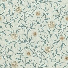 1 ROLL OF WILLIAM MORRIS & CO SCROLL WALLPAPER 210362 COLOUR LODEN/SLATE