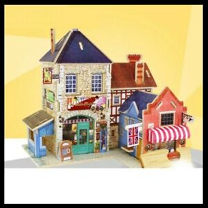 Rolife 3D Miniature DIY cardboard house puzzle, Music Store F132, Brand New