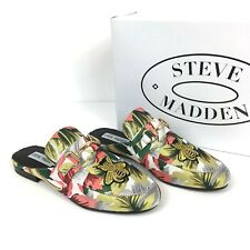 Steve Madden Kandi Queen Bee Floral Slip On Mule Flats Womens Size 6 NWT