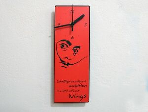Dali Quote - Intelligence Withour Ambition Is A Bird Without Wings - Wall Clock