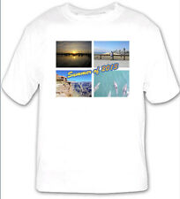 Personalised white T-shirt any image any text ideal gift