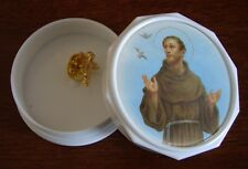 and Prayer For Peace Trinket Box Miniature Gold Toned Guardian Angel Pin