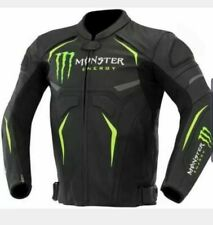 Monster Energy Scream Motorbike Motorcycle Rider Leather Jacket Best Quality