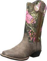 Smoky Mountain Western Cowboy Boot, 13.5 Little Kid - Brown Distress/Pink Camo