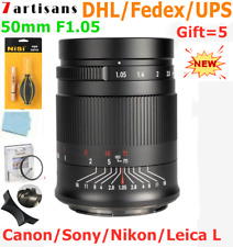 7artisans 50mm F1.05 Full Frame Lens for Canon Nikon Sony Leica Panasonic Sigma