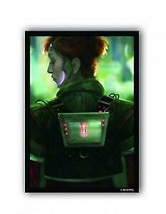 2x Deep Red  100 Standard Android LCG Card Sleeve Protectors  Netrunner FFG  NEW