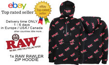1x RAW OFFICIAL / ORIGINAL RAWLER ZIP HOODIE SIZE - L - ROLLING PAPERS