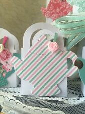 24 Shabby Chic Tea Party Thank You favor boxes for Party Or Baby Shower Cute!!!