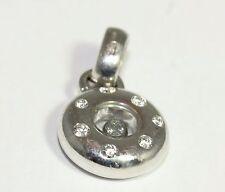 Deslumbrante Chopard 18ct Oro Blanco Diamante Colgante
